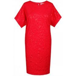 FSU876 Sukienka motylek z wzorem 3D  48