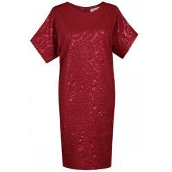 FSU876 Sukienka wieczorowa motylek z wzorem 3D  48