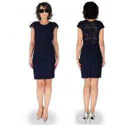 KOLORY  Sukienka z ozdobnymi plecami wesele 42 XL