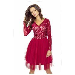 Elegancka sukienka tiulowa z koronką WESELE __44