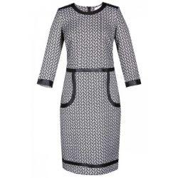 FSU887 Sukienka dzienna w pepitkę 42 XL