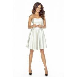 KM128-1 Skórzana sukienka z gorsetem 38 M