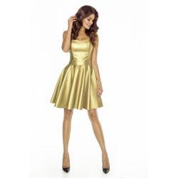 KM128-2 Skórzana sukienka z gorsetem 40 L