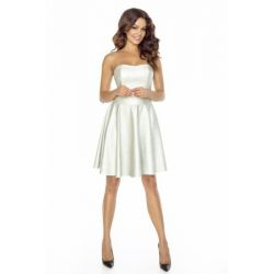 KM128-1 Skórzana sukienka z gorsetem 44 XXL
