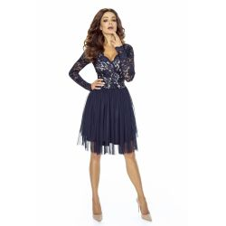 Elegancka sukienka tiulowa z koronką WESELE __38