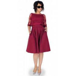 MON319 Sukienka z imitacja bolerka ELEGANCKA 44