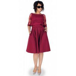 MON319 Sukienka z imitacja bolerka ELEGANCKA 42 XL