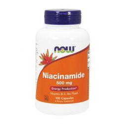 NOW NIACYNAMID NIACYNA B3 PP 500 mg 100 kap JAKOSC
