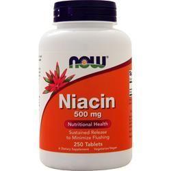 NIACYNA WITAMINA B3  500 mg  250kap - NOW USA