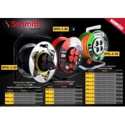 Przedłużacz Bębnowy 25m SCHMITH PROFESIONAL Line Elektryka i akcesoria
