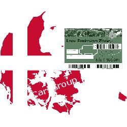 Duńska plakietka naklejka ekologiczna Umweltzone - EcoSticker Gadżety motoryzacyjne