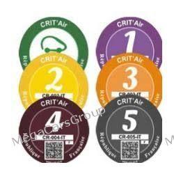 Francuska plakietka naklejka ekologiczna Umweltzone - Crit'Air Gadżety motoryzacyjne