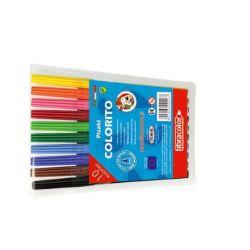 Mazaki Pisaki Flamastry Fibracolor 0267 10szt kpl