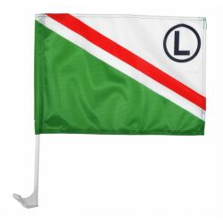 Legia Warszawa flaga samochodowa barwy klubowe