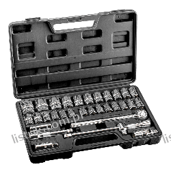 """Klucze nasadowe 1/2"""", zestaw 32szt. Topex 38D631"""