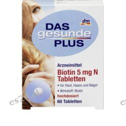 Gesunde Plus Biotyna BIOTEBAL 5mg Włosy 60szt  Zdrowie, medycyna