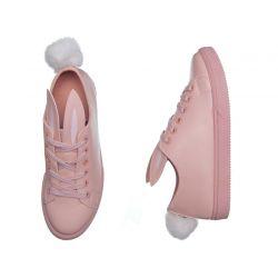 Bunny Tenisówki różowe KRÓLICZKI z uszami