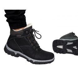 Trapery HAVE MĘSKIE czarne TRZEWIKI buty zimowe