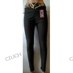 Spodnie rurki z panterką