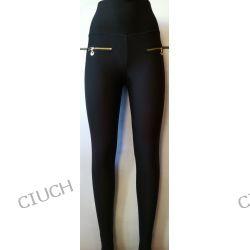 Spodnie rurki z szerokim pasem