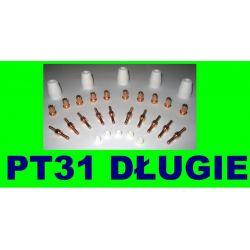 30DŁUGIE DYSZE ELEKTRODY UCHWYT PLAZMOWY PT31 LG40 Materiały spawalnicze