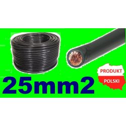 100% MIEDŹ Przewód Kabel Masowy Spawalniczy 25mm2 Elektryka i akcesoria