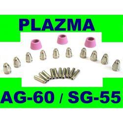 DYSZE ELEKTRODY DO PRZECINARKI PLAZMOWEJ AG60 SG55 Materiały spawalnicze