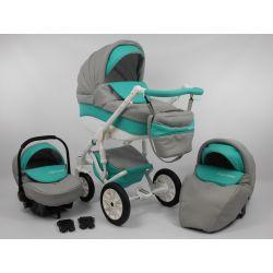 NOWOŚĆ Wózek dziecięc LIGA STAR 3w1 EKOSKÓRA