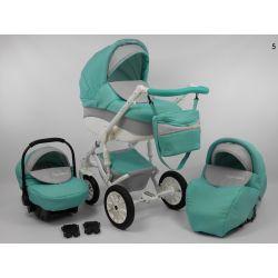 NOWOŚĆ Wózek dziecięcy LIGA STAR 3w1 tkanina
