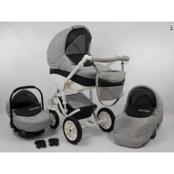 LIGA STAR 3w1 tkanina-skóra NOWOŚĆ Wózek dziecięcy