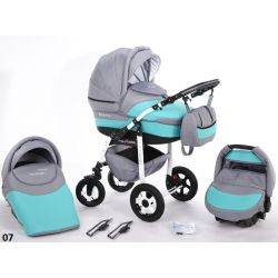 NOWOŚĆ Wózek dziecięcy DIADEMA 2w1 Z ODBLASKAMI