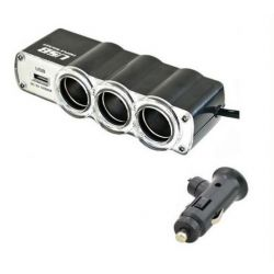 ROZDZIELACZ 12V / 24V GNIAZDO ZAPALNICZKI x3 + USB