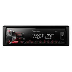 PIONEER MVH-190UB RADIO CZERWONY USB MP3 AUX FLAC