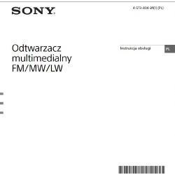 POLSKA INSTRUKCJA DO RADIA SONY MEX-N5200BT