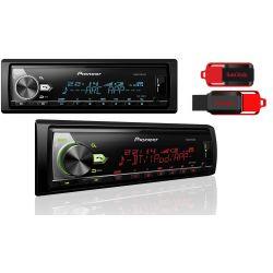 PIONEER MVH-X580BT RADIO COLOR USB BLUETOOTH +16GB