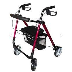 Lekki aluminiowy, składany, 4-kołowy chodzik AT51112