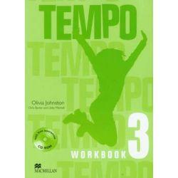 Tempo 3 Workbook + CD - Johnston Olivia Książki do nauki języka obcego