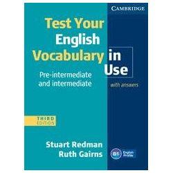 Test Your English Vocabulary in Use - Redman Stuart Książki do nauki języka obcego
