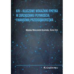 KRI. Kluczowe wskaźniki ryzyka w zarządzaniu płynnością finansową przedsiębiorstwa - Wieczorek-Kosmala Monika