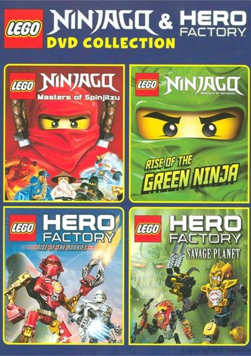 Lego Ninjago And Hero Factory Collection Dvd Na Bazarekpl