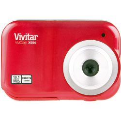 Vivitar ViviCam X054 Digital Camera (Red) VX054-RED-MEJ B&H Fotografia