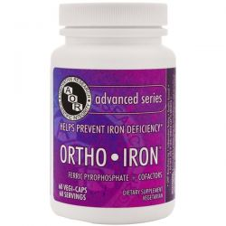 Advanced Orthomolecular Research AOR, Ortho-Iron, 60 Veggie Caps