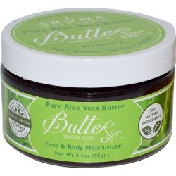 Aroma Naturals, Pure Aloe Vera Butter, Face & Body Moisturizer, 3.3 oz (95 g) Country