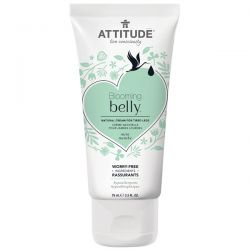 ATTITUDE, Blooming Belly, Natural Cream for Tired Legs, Mint, 2.5 fl oz (75 ml) Zdrowie, medycyna