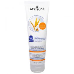 ATTITUDE, Sensitive Skin Care, Natural Soothing Bath Soak, Fragrance Free, 8.1 fl oz (240 ml)