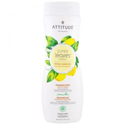 ATTITUDE, Super Leaves Science, Natural Shower Gel, Regenerating, Lemon Leaves, 16 oz (473 ml)
