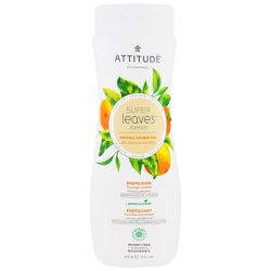 ATTITUDE, Super Leaves Science, Natural Shower Gel, Energizing, Orange Leaves, 16 oz (473 ml)