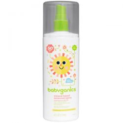 BabyGanics, Mineral-Based Sunscreen Spray, 50 + SPF, 6 fl oz (177 ml)