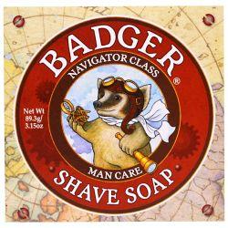 Badger Company, Shave Soap, Navigator Class, Man Care, 3.15 oz (89.3 g) Historyczne