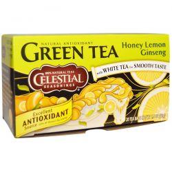 Celestial Seasonings, Green Tea, Honey Lemon Ginseng, 20 Tea Bags, 1.5 oz (42 g) Historyczne